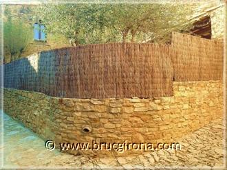 Bruc Girona, rollos de brezo natural para vallas y ocultaciones